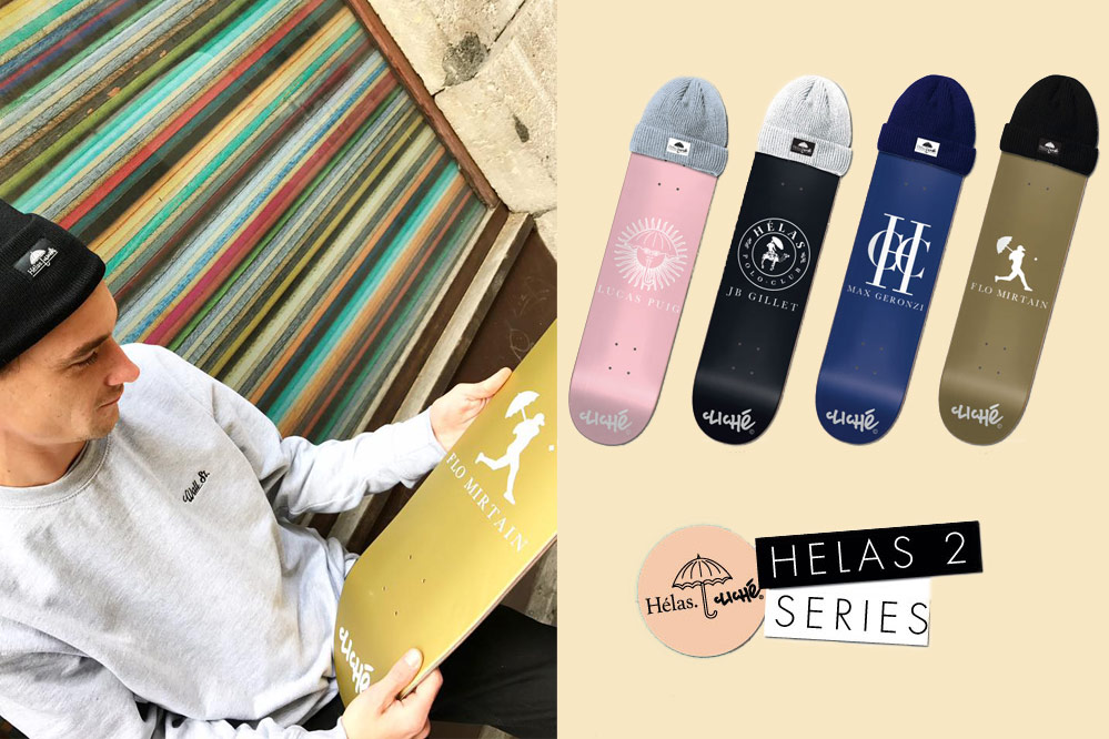 Cliché Skateboards x Hélas Collab – Skateboarding's finest from France