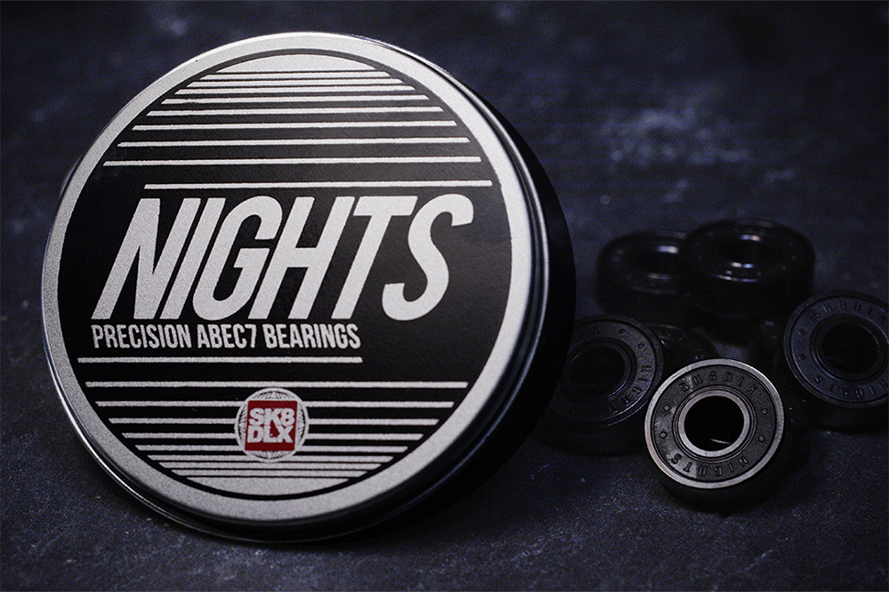 The SK8DLX Nights ABEC 7 Bearings – Invite the night!