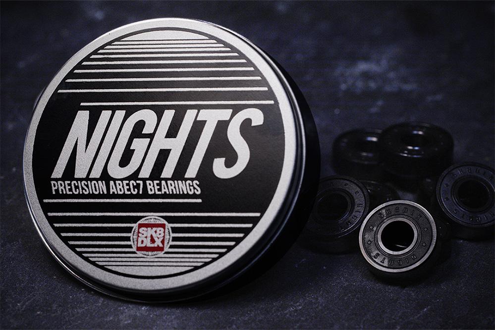 Les roulements SK8DLX Nights ABEC 7 – Invitez la nuit!