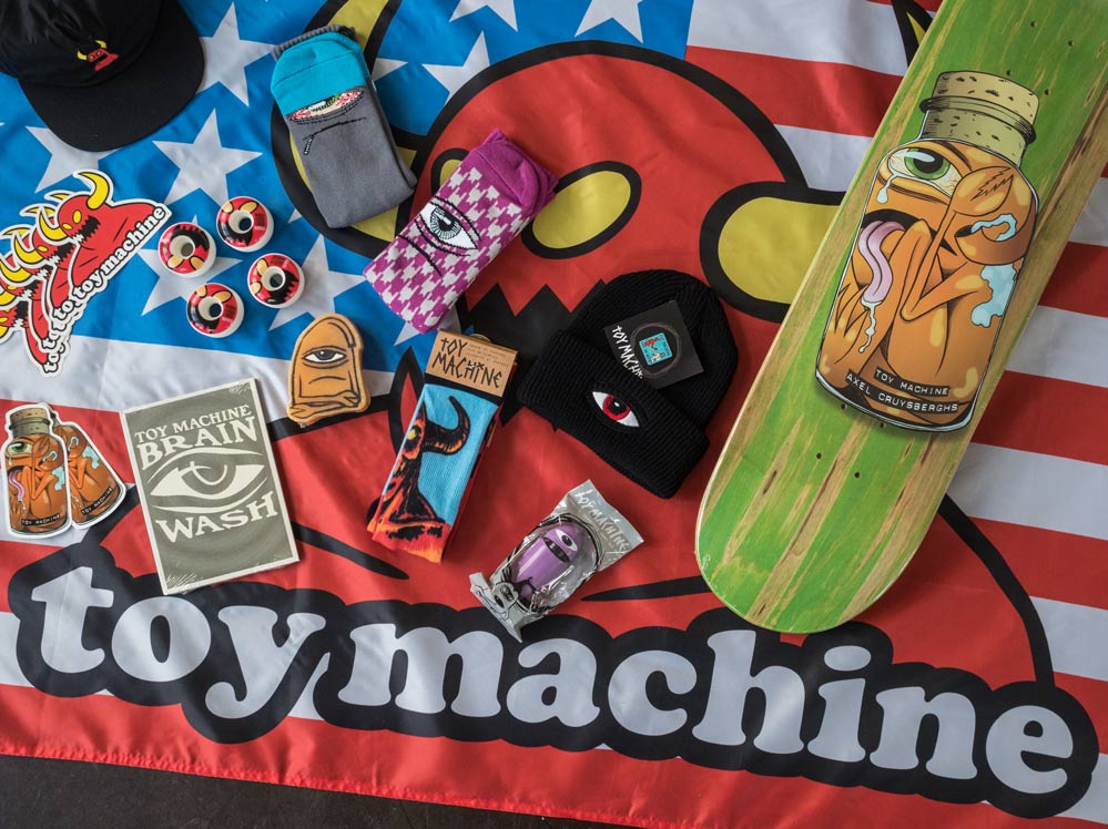 Axel Cruysberghs pro decks are here! Win a massive Toy Machine package!