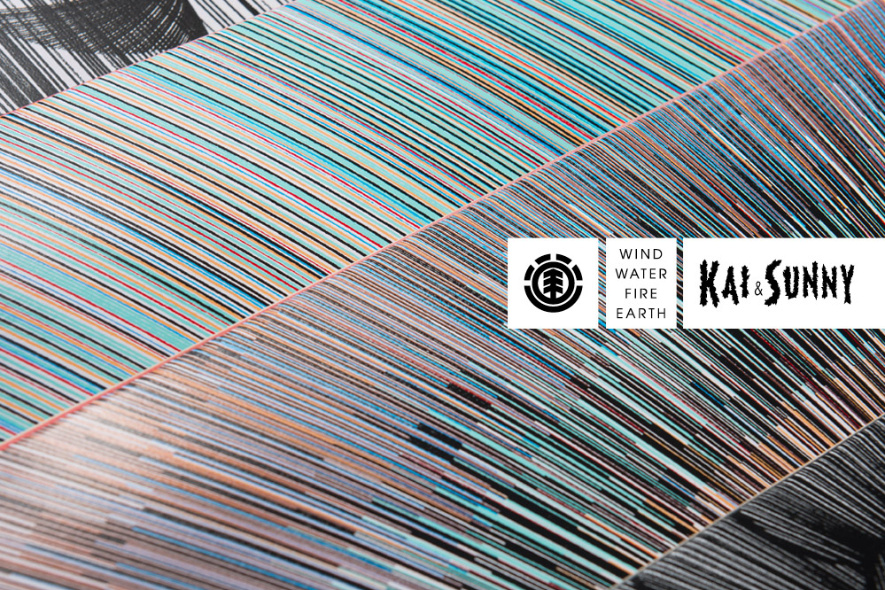 Element Kai & Sunny Deck Kollektion – Skateboarddecks als Leinwände