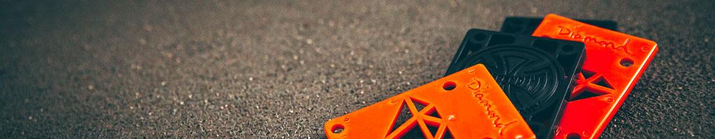 Shock Pads / Riser Pads per skateboard