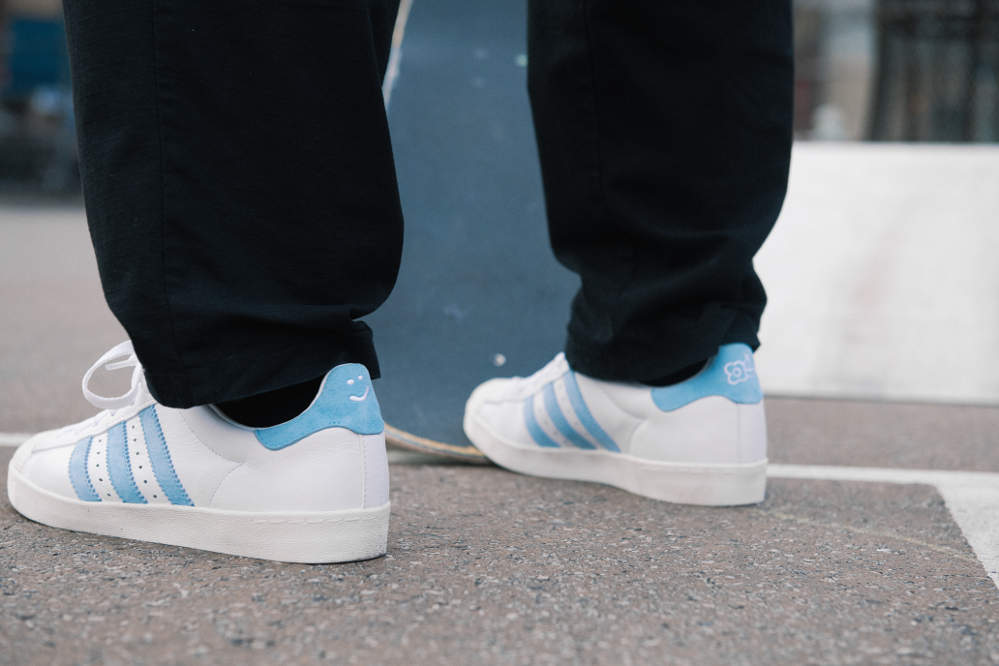 adidas x Krooked Superstar Vulc Skate Shoe