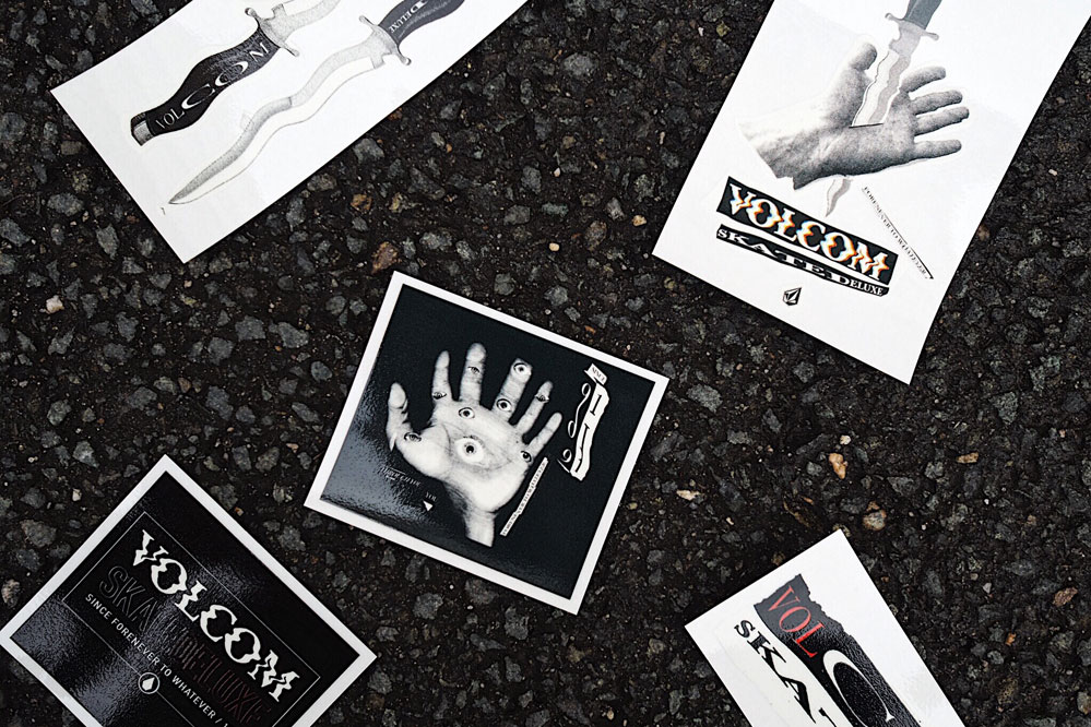 Free sticker with the skatedeluxe x Volcom collab