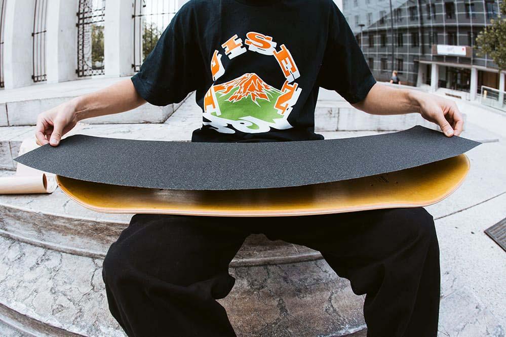 Gratis griptape bij aankoop van een skateboard deck