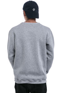 Magenta Crew Brodé Sweatshirt (heather grey)