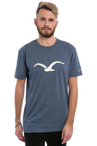 Cleptomanicx Möwe T-Shirt (heather blue)