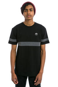 Cleptomanicx Fifty-Fifty Patch T-Shirt (black)