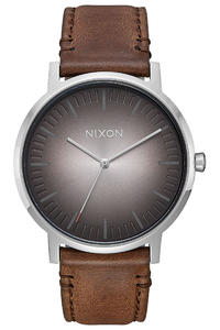 Nixon The Porter Leather Watch (ombre taupe)