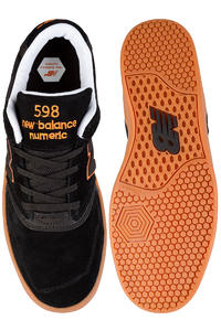 New Balance Numeric 598  Shoe (black orange gum)