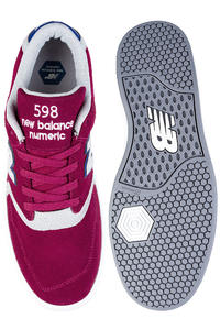 New Balance Numeric 598 Scarpa (burgundy grey)