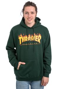 Thrasher Flame Logo Hoodie (forrest green)