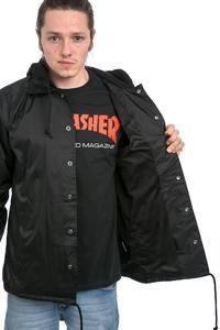 Thrasher Flame Logo Coach Jacket (black)
