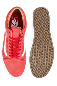 Vans Old Skool Premium Leather Zapatilla (racing red true white)