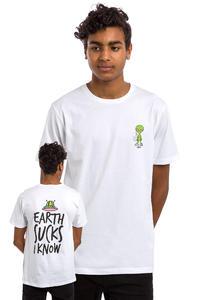 Tealer Earth Sucks T-Shirt (white)