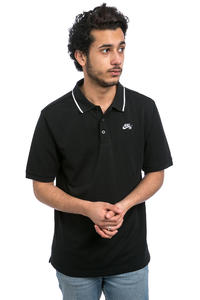 Nike SB Dri-FIT Piqué Tipped  Polo-Shirt (black white)