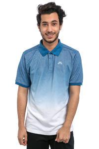 Nike SB Dry Dip Dye Polo-Shirt (industrial blue white)
