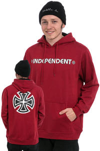 Independent Bar Cross Hoodie (cardinal red)