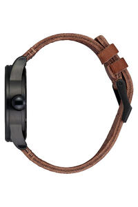 Nixon The Sentry Leather Watch (black stamped brown)