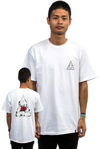 HUF Roses Triple Triangle T-Shirt  (white)