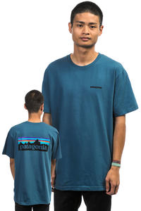Patagonia P-6 Logo T-Shirt (glass blue)