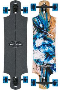 """Landyachtz Maple Drop Hammer 36.5"""" (93cm) Complete-Longboard (blue jay)"""