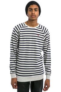 Cleptomanicx Classic Stripe 2 Sweatshirt (heather creme)