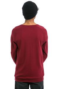 Cleptomanicx Larry 2.0 Sweatshirt (merlot red)