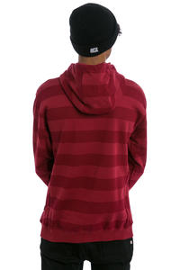 Cleptomanicx Stripe 3.0 Hoodie (merlot red)