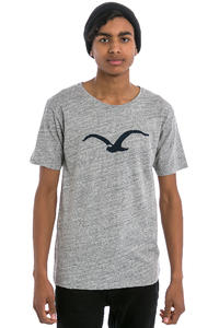 Cleptomanicx Vintage Möwe T-Shirt (vintage grey mj blue)