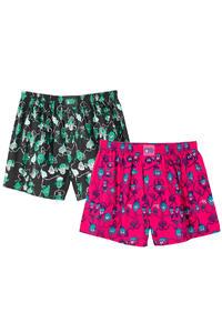 Lousy Livin Underwear Aliens Boxershorts (cranverry black) 2er Pack