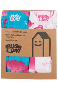 Lousy Livin Underwear Flamingo Boxers (white blue) 2 Pack