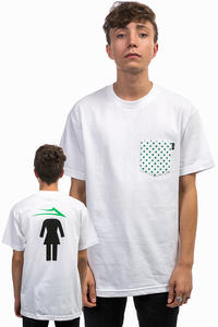 Lakai x Girl Dotted Pocket Camiseta (white)