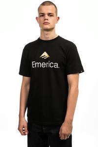 Emerica Skateboard Logo T-shirt (black gold)