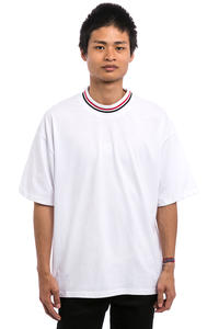 Polar Skateboards Striped Rib T-Shirt (white)