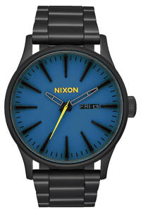 Nixon The Sentry SS Watch (all black seaport blue)