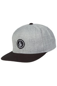 Volcom Quarter Twill Snapback Cap (black grey)