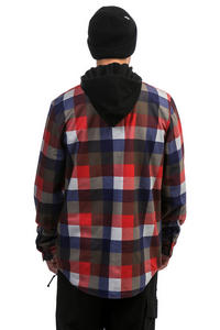 Volcom Field Bonded Flannel Snowboard Jacket (fire red)