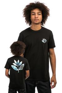 Magenta Hokusai Plant Camiseta (black)