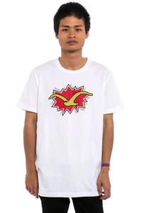 Cleptomanicx Pop Möwe T-Shirt (white)