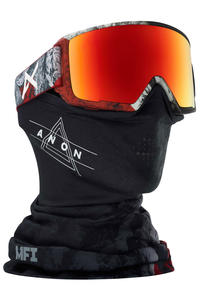 Anon M3 MFI Goggles (red planet sonar red) inkl. Facemask