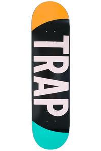 "Trap Skateboards Big Logo 8.25"" Deck (orange turquoise)"