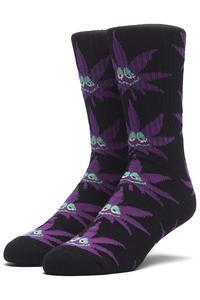 HUF Green Buddy Socks US 8-12 (purple)