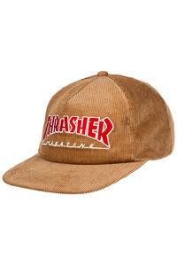Thrasher Magazine Logo Corduroy Snapback Cap (gold)