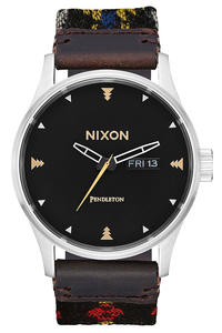 Nixon x Pendleton The Sentry Leather Watch (midnight eyes)
