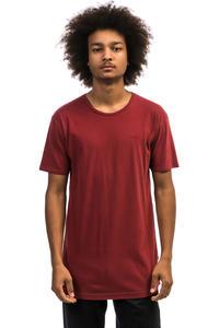 Cleptomanicx Ligull Long 2 T-Shirt (merlot red)