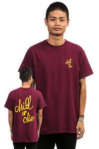 CHILL OR DIE OG Logo T-Shirt (burgundy gold)