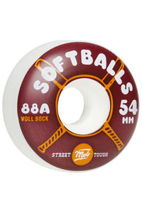 MOB Skateboards Softballs 54mm Ruote (white) 4er Pack