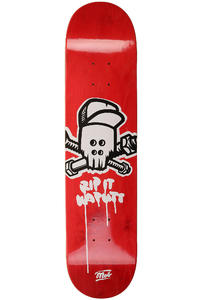 "MOB Skateboards Metal Skull 7.5"" Planche Skate (red veneer)"