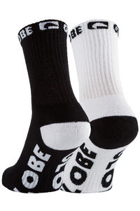 Globe Quarter Socken US 7-11 (black white) 5er Pack